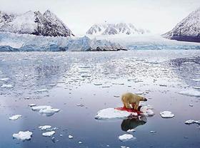 Com a poluição por fuligem, as calotas polares derretem mais facilmente, dificultando o reflexo de radiação no espaço